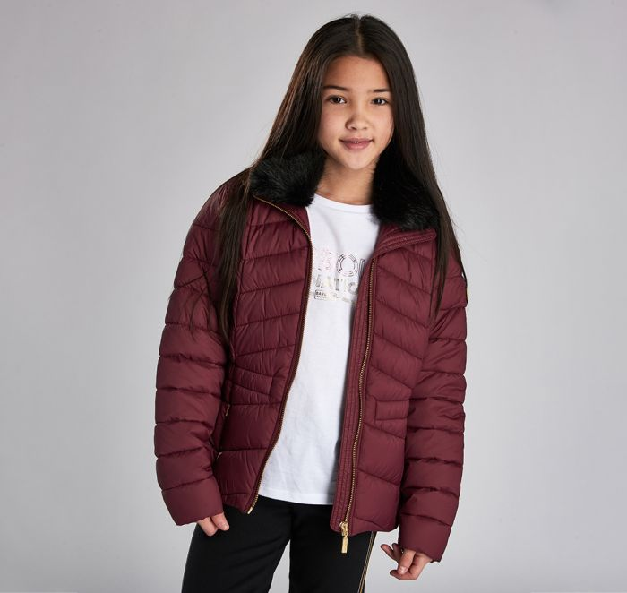 B.Intl Girls Halfback Quilted Jacket