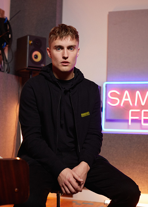 Sam Fender wears the AW20 Barbour International menswear collection
