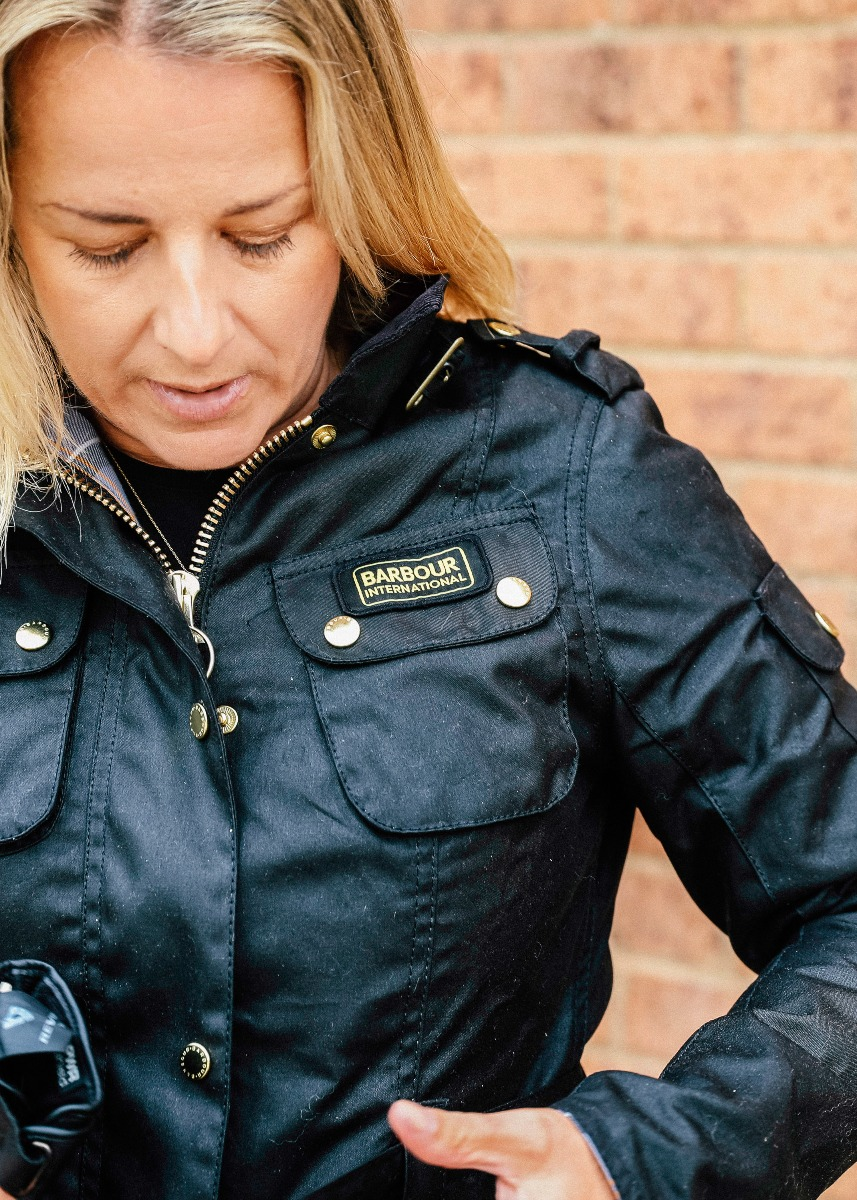 Merry Michau wears the Barbour International AW21 Women's Collection