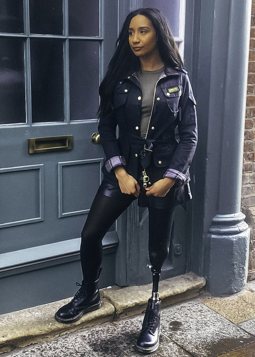 Sian Lord wears the Barbour International AW21 Women's Collection