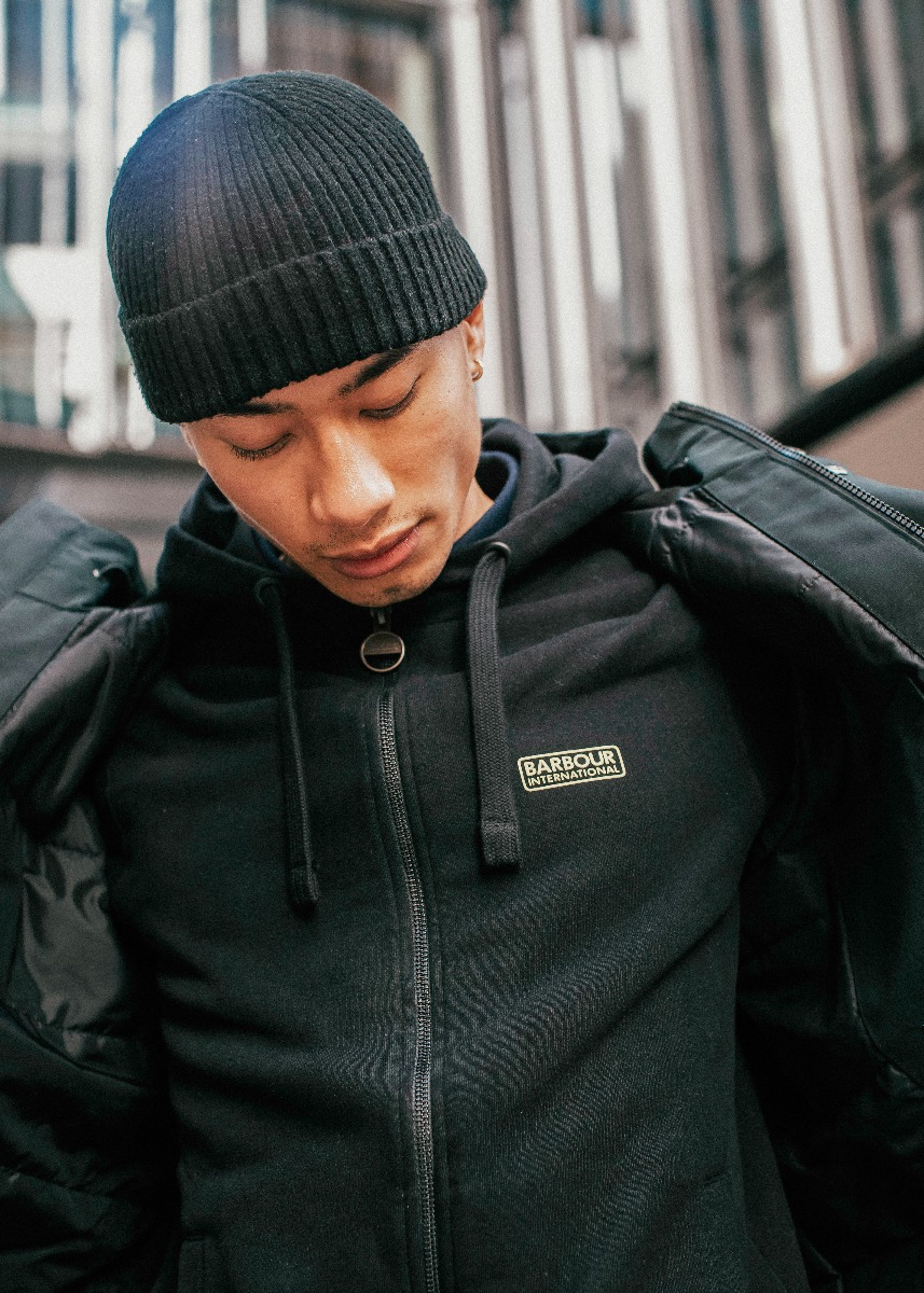 Tana wears the Barbour International AW21 Men's Collection