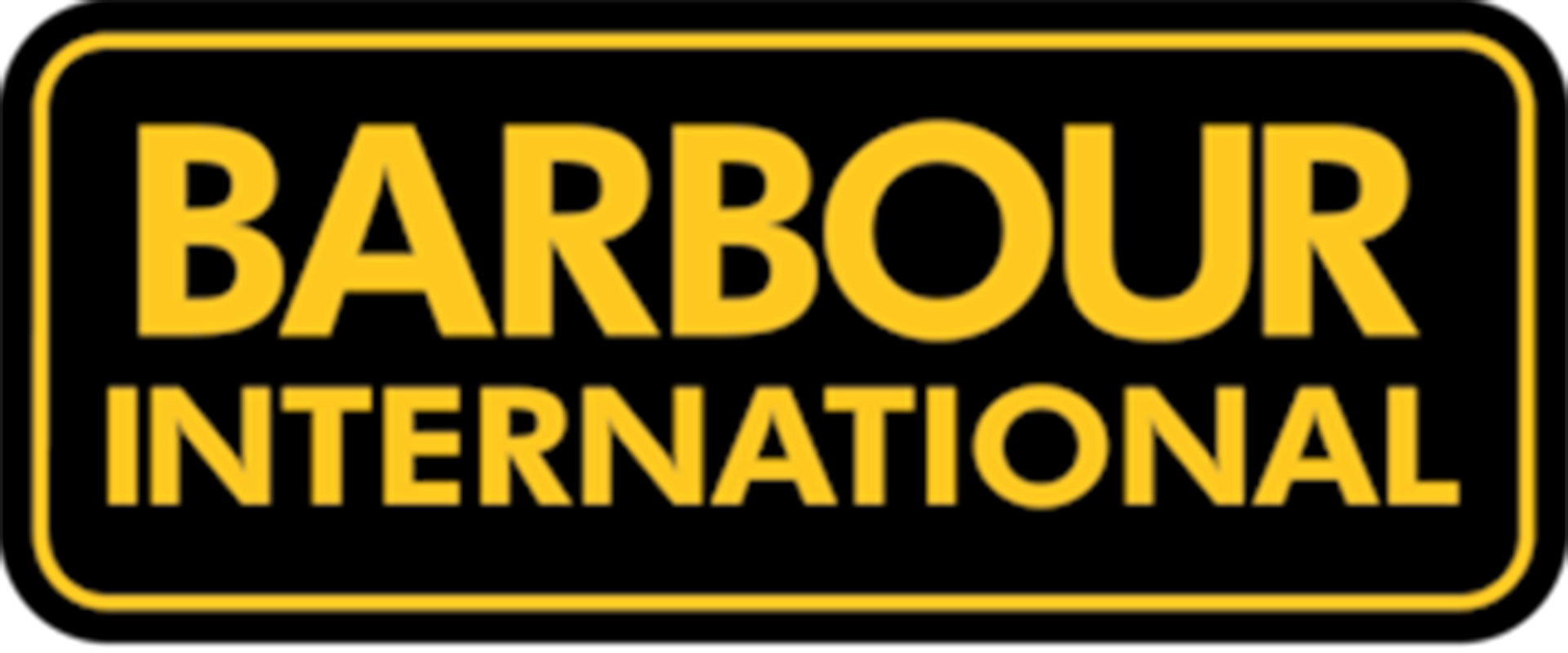 barbour international black and yellow logo