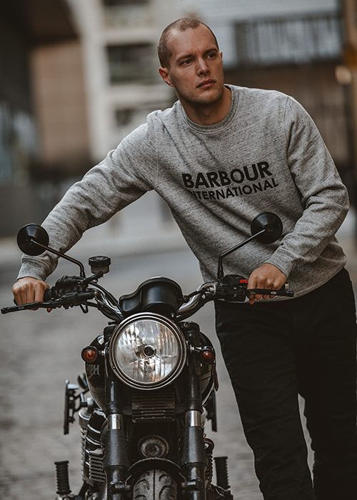 Freddie Dobbs wears Barbour International