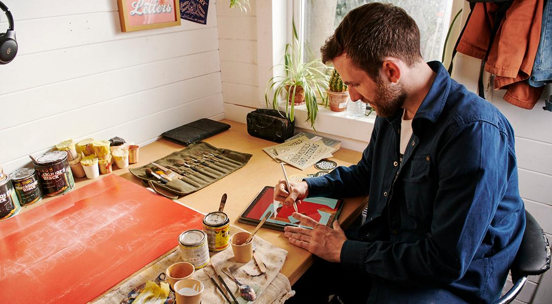 Joshua Harris sign painting
