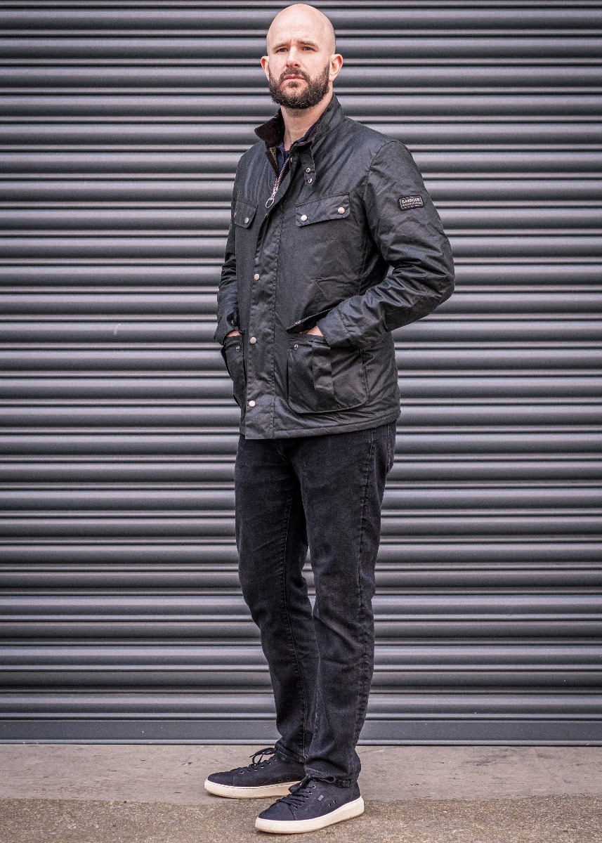 Charles Cave wears the Barbour International Menswear Collection