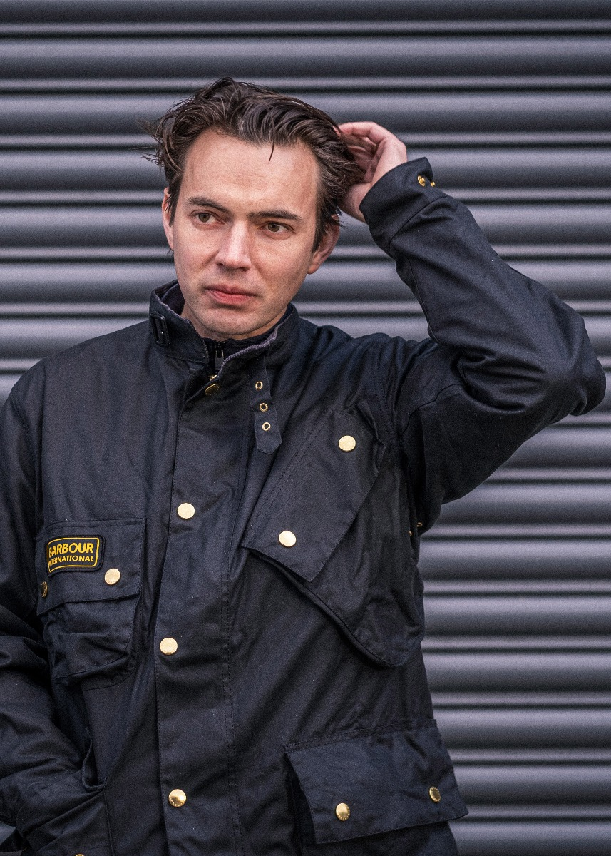 Jack Lawrence-Brown wears the Barbour International SS21 Menswear Collection