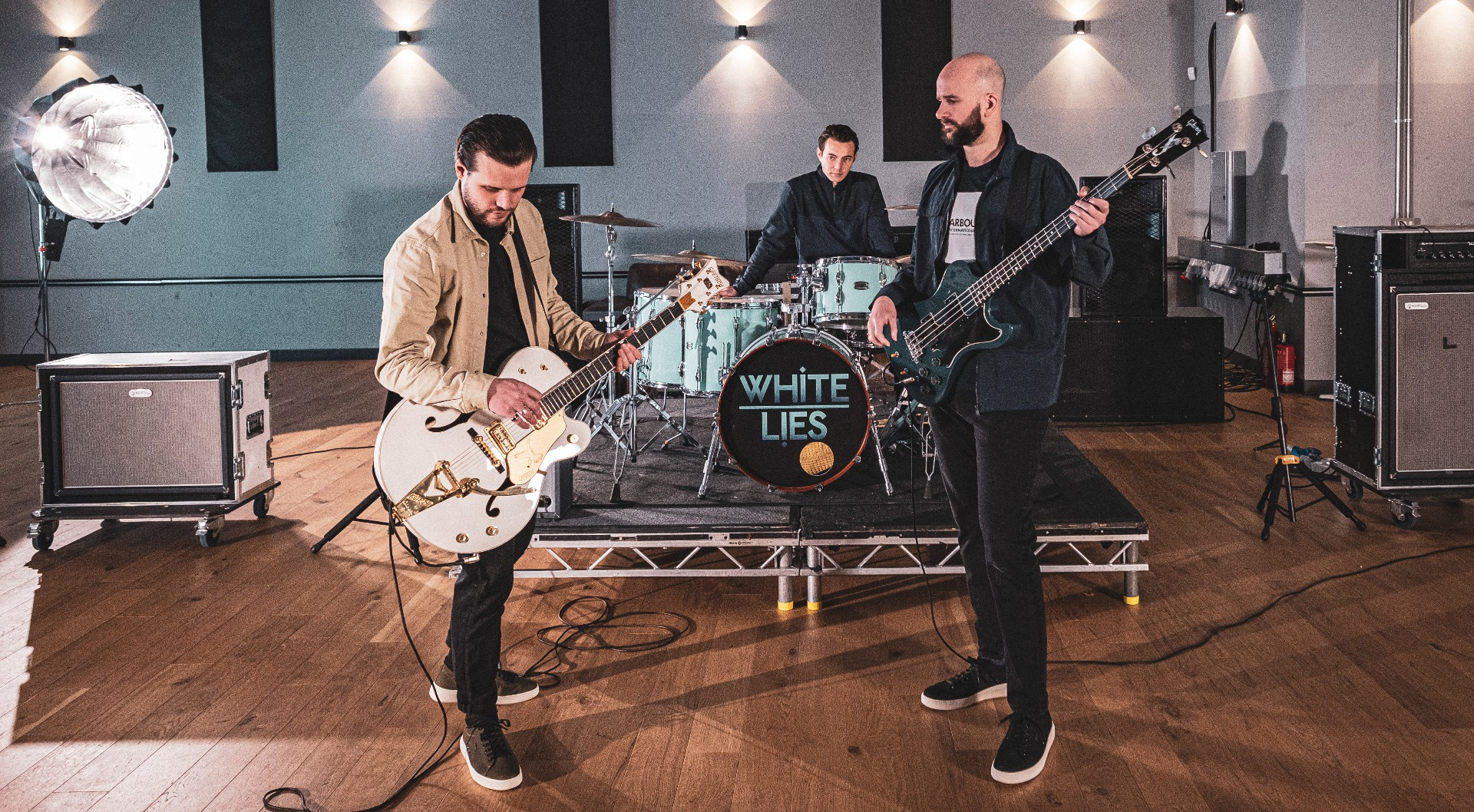 White Lies wear the Barbour International SS21 Menswear Collection