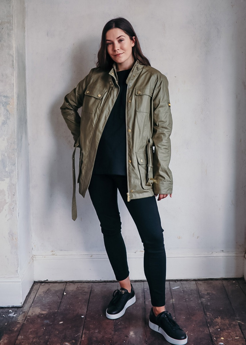 Hannah styles the Barbour International SS21 Women's Collection