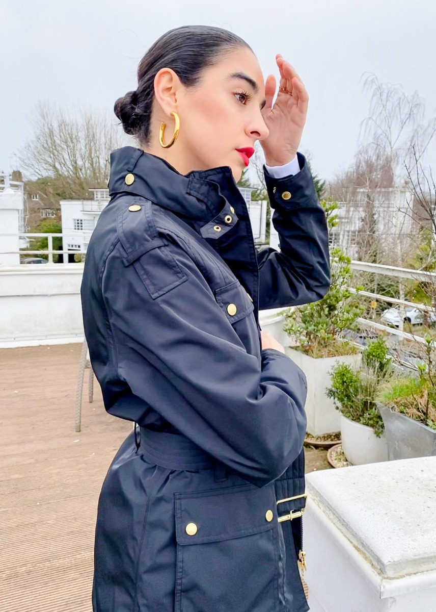 Kara styles the Barbour International SS21 Women's Collection