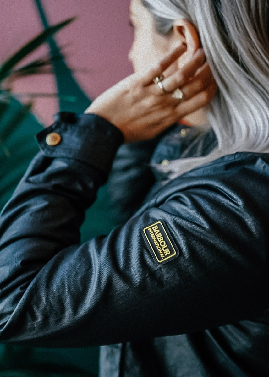 Lois styles the Barbour International SS21 Women's Collection