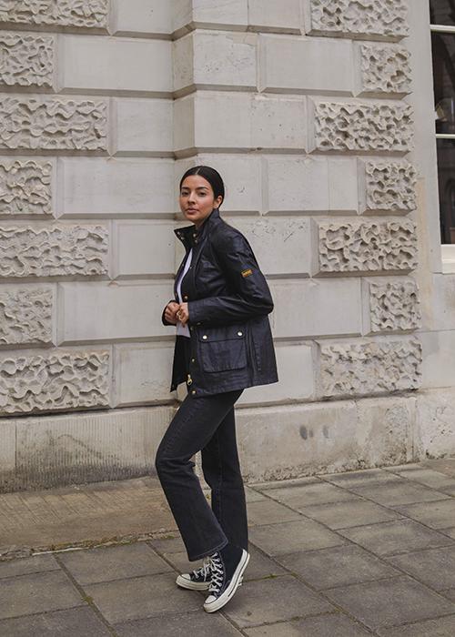 Deniz wears the Pre AW21 womenswear collection