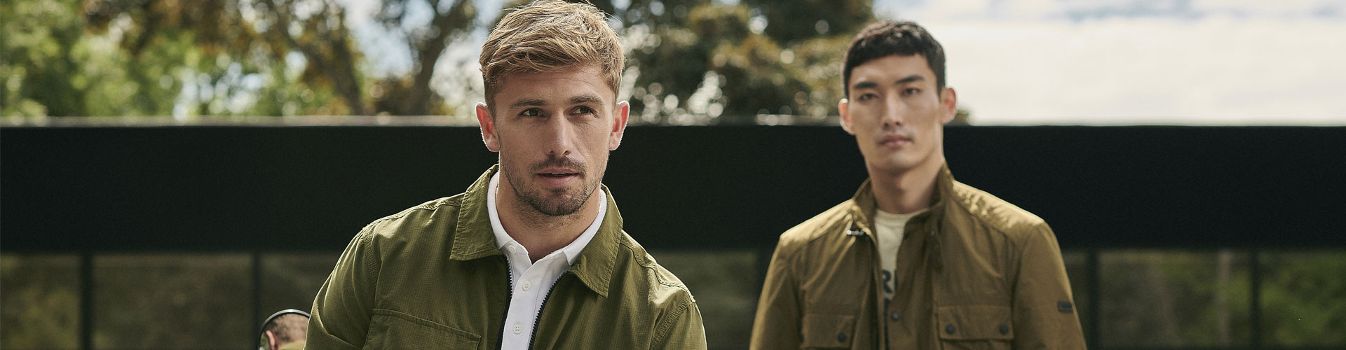 The Barbour International SS21 Pre Men's Collection, styled on model