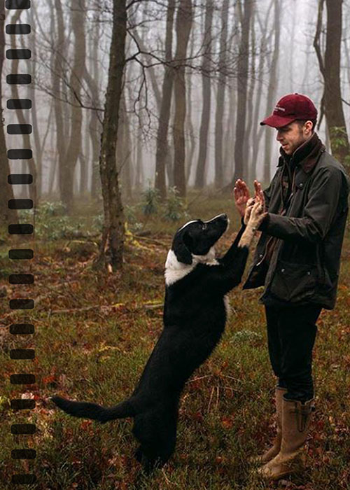 man and his dog enjoying the Barbour Way of Life