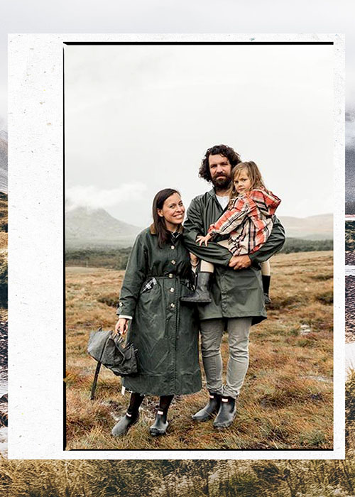 family of three enjoying the Barbour way of life