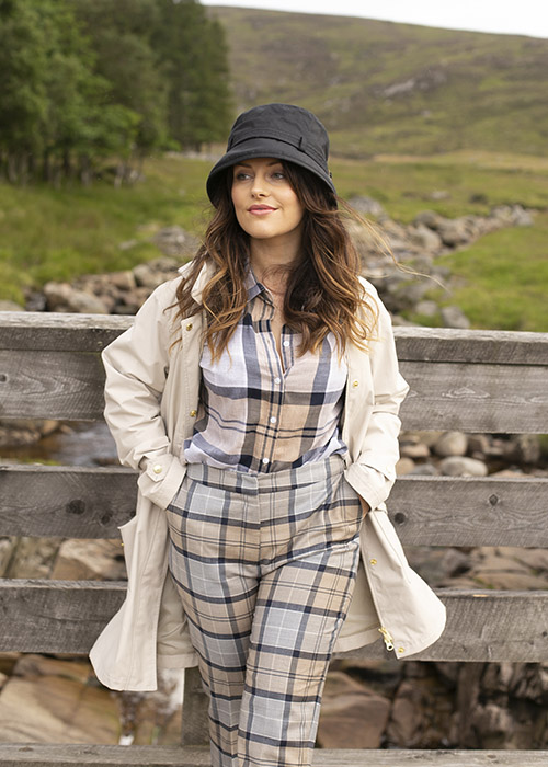 Amy Bell styles AW20 Women's Tartan collection in Scotland