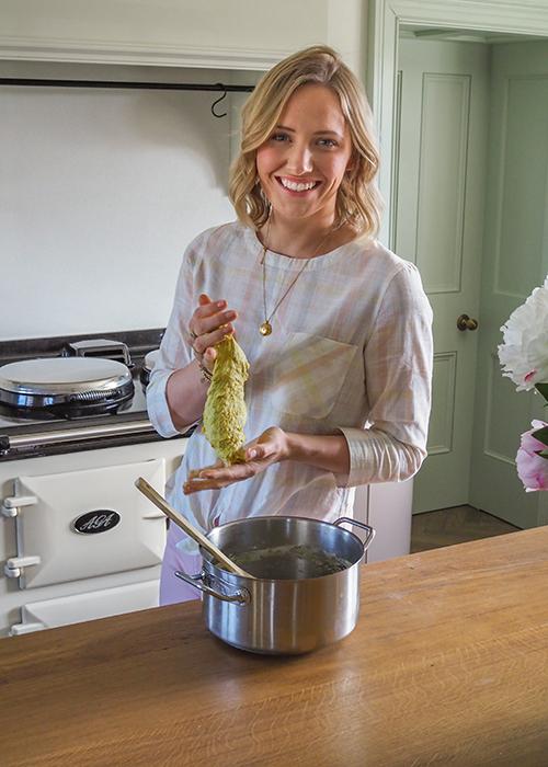 laura ann making play dough at home