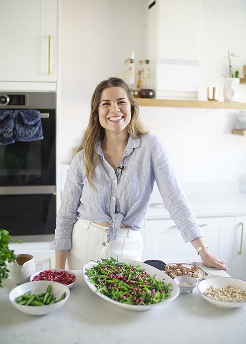 Madeleine Shaw making Asian Marinated Tofu, Brown Rice and Cashew Salad