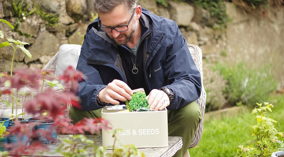 Richard Chivers home growing veg