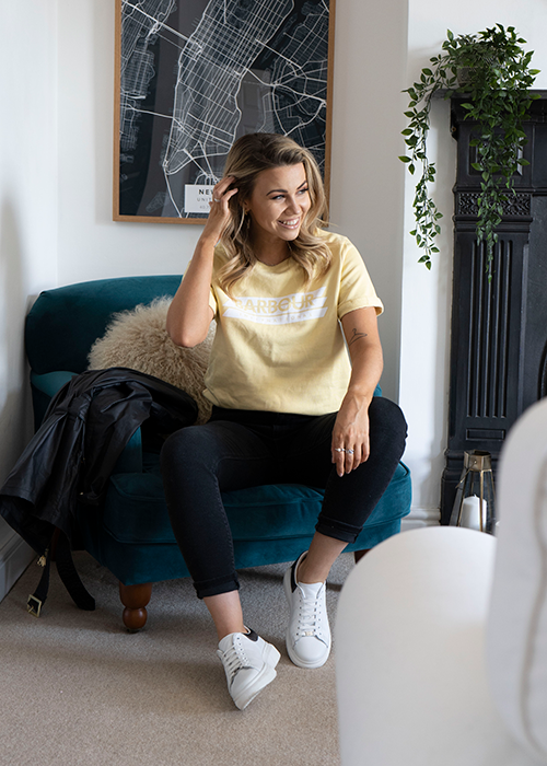 Classic and comfy look with Jess Shepherd