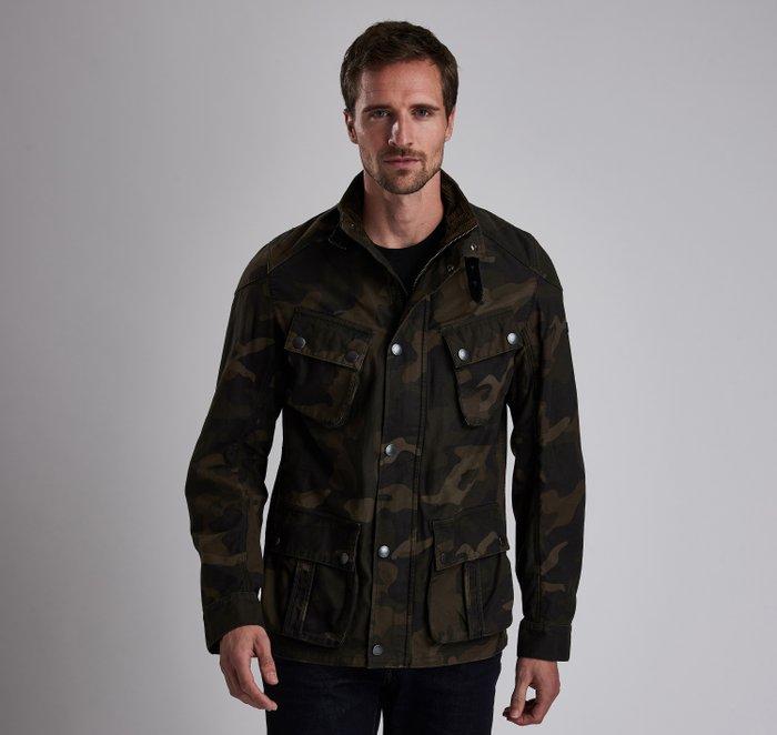 B.Intl Washed Camo Casual Jacket