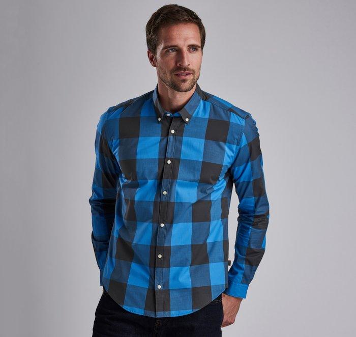 B.Intl Bold Gingham Slim Fit Shirt