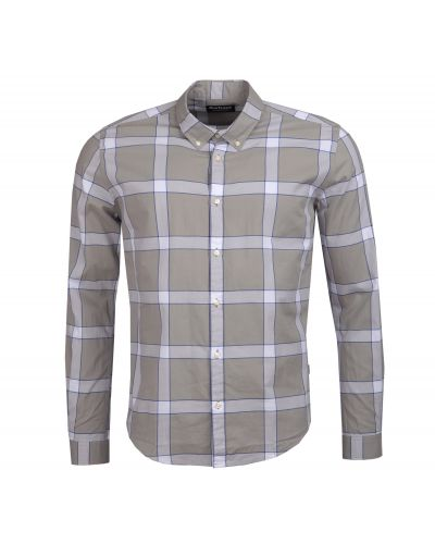 B.Intl Valve Check Slim Fit Shirt