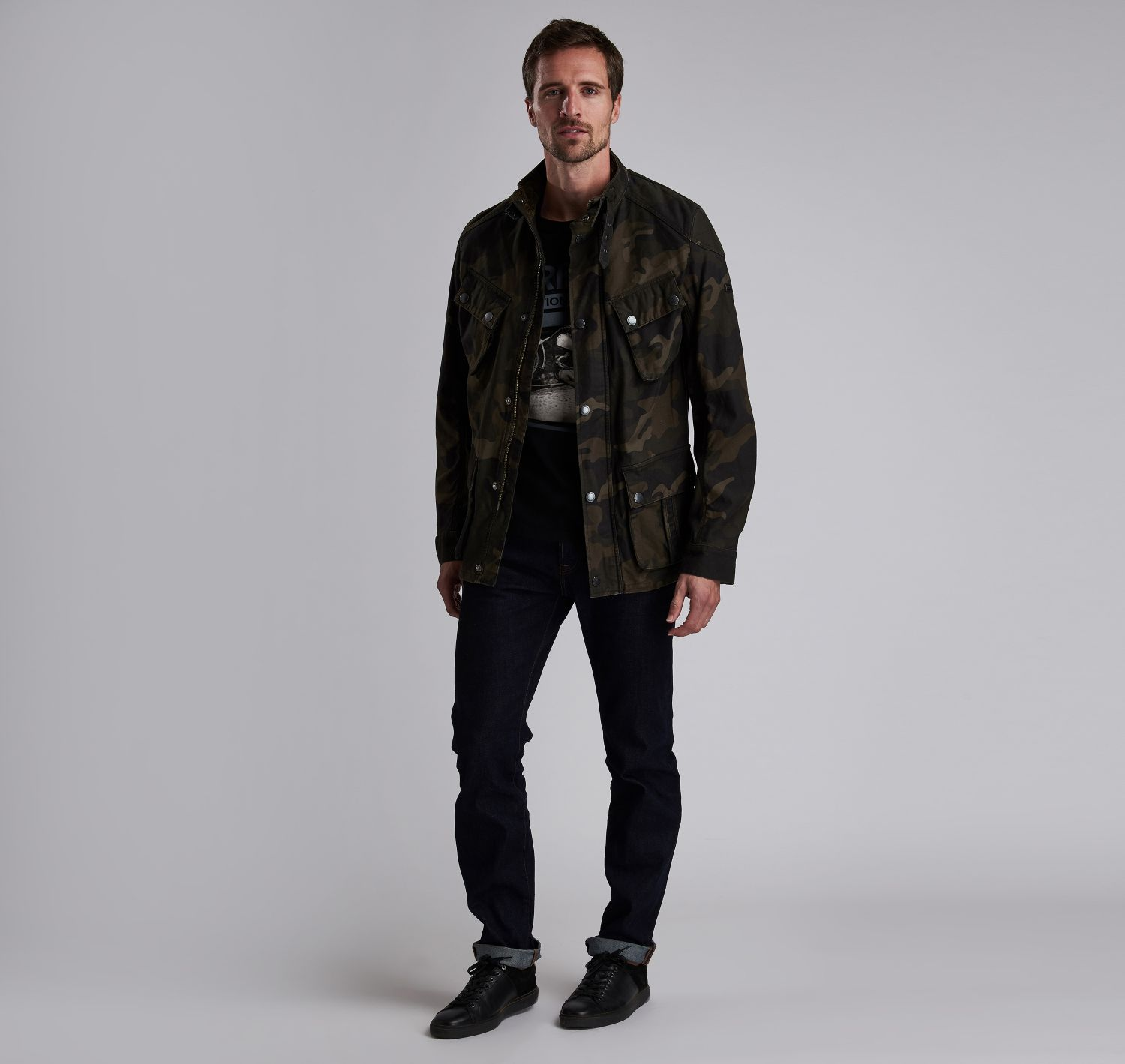 4aa9d9e186b25 B.Intl Washed Camo Casual Jacket | Barbour International