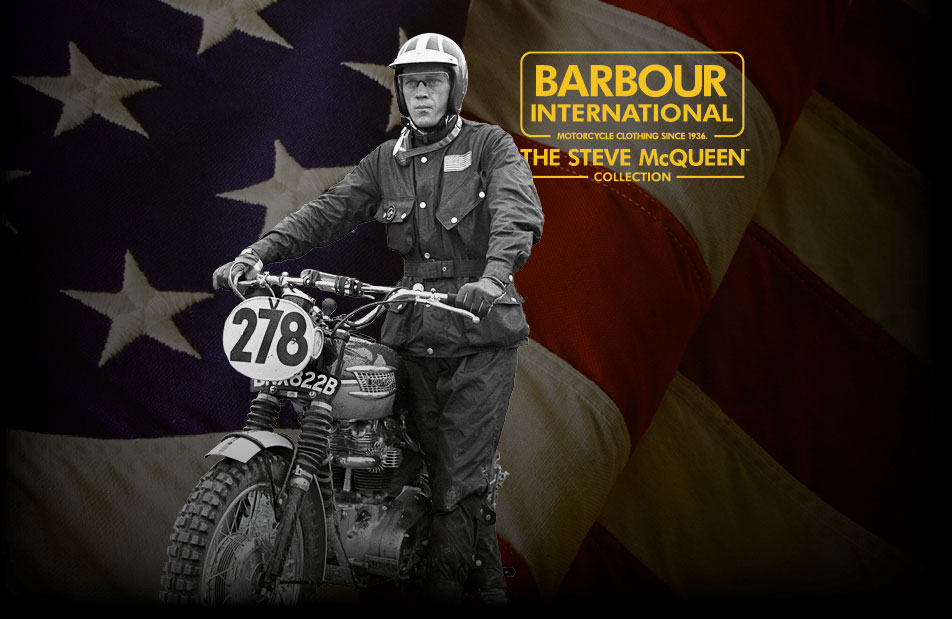 Background image for BARBOUR INTERNATIONAL STEVE MCQUEEN